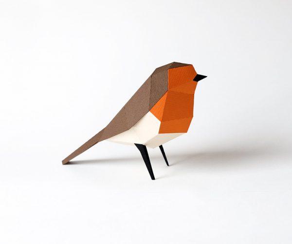 erithacus rubecula paper figures european robin petirrojo pitroig